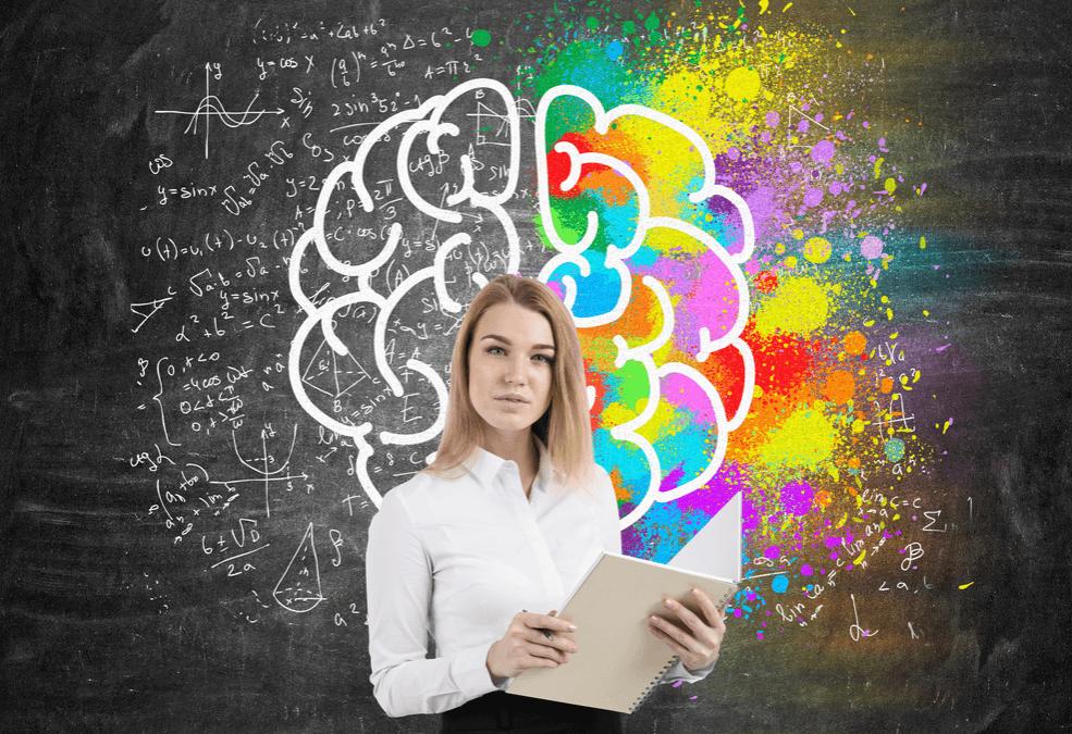 Mulher empresária criativa e inteligente